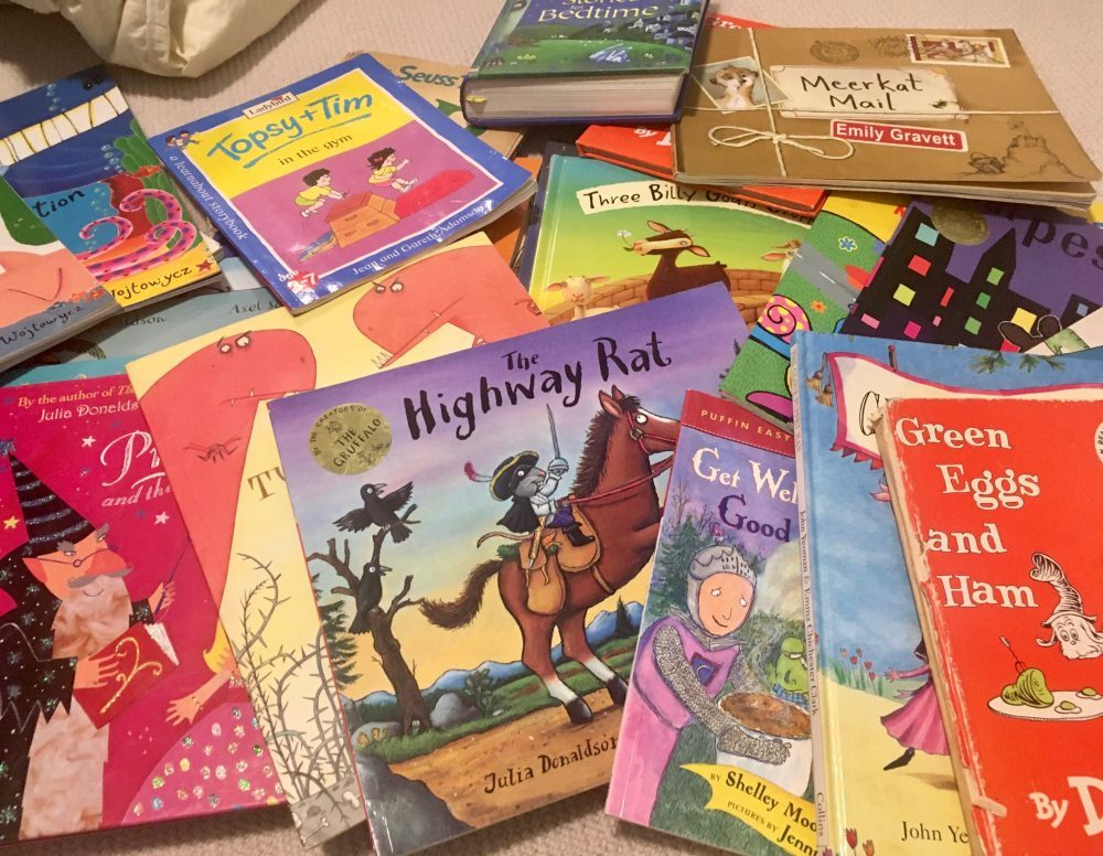 pile of picture books