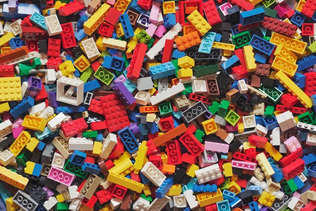 Big pile of colourful Legos