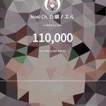 【白銀ノエル】団長がチャンネル登録者数11万人達成!!10万人から僅か3日で1万人増加!!【ホロライブ】