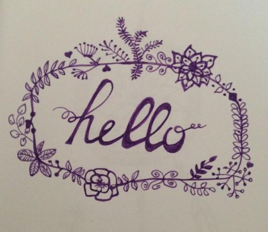couronne de fleurs hello