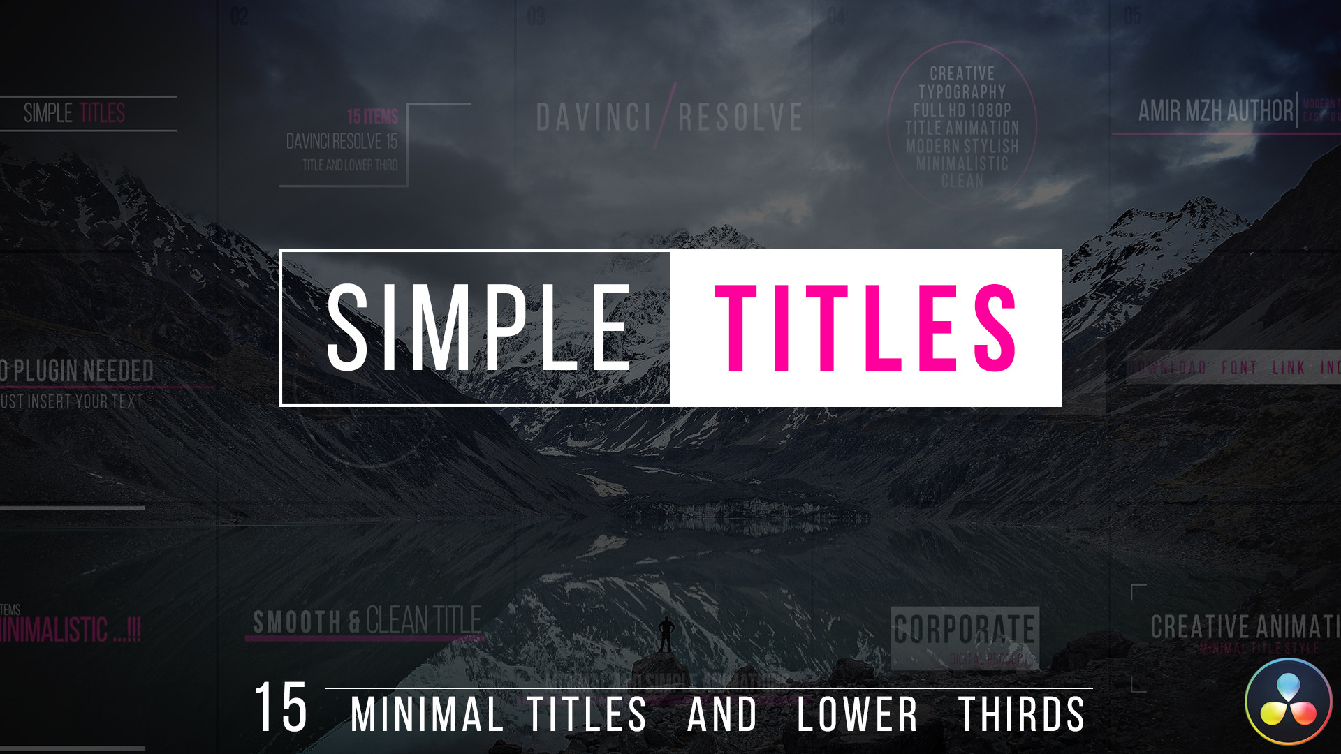 Simple Titles Davinci Resolve Templates Motion Array