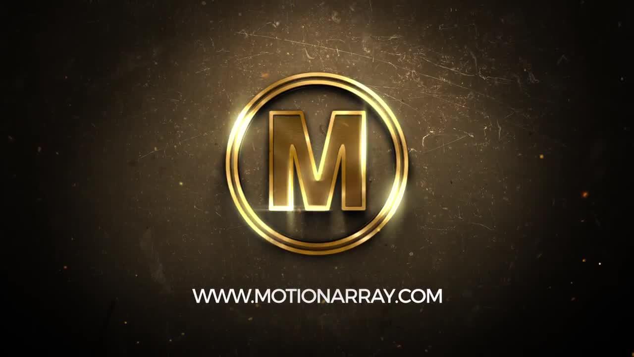 Golden Logo After Effects Templates Motion Array