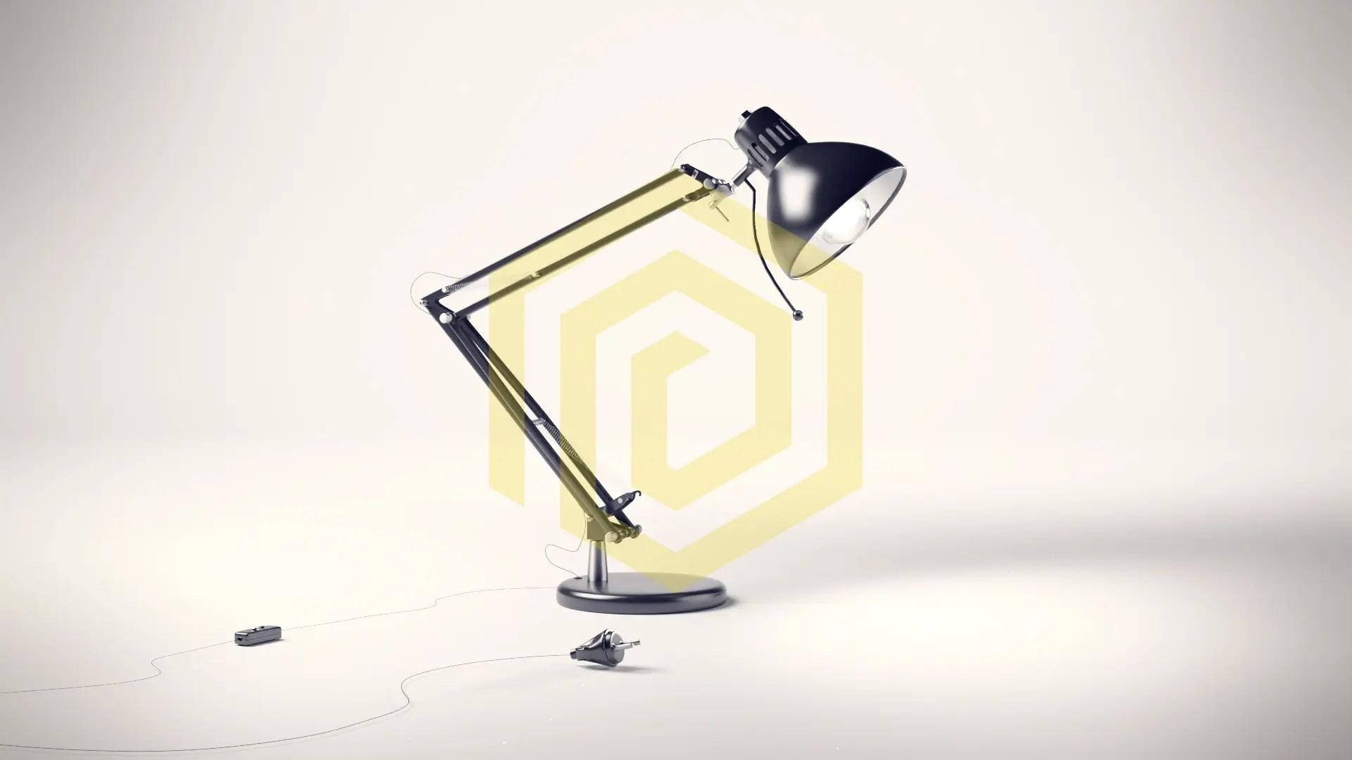 Lampen Design in Weißraum ohne Kratzer und Staubpartikel