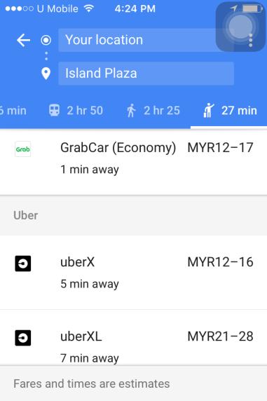 google-map-compare-fares