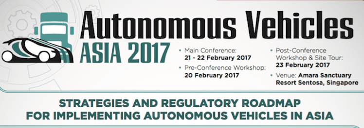 Autonomous Vehicles Asia Conference 2017 urban mobility