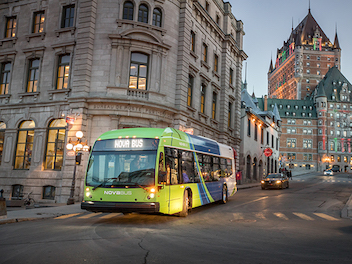 Canadian Cities Commit to Sustainable Urban Mobility Electric Bus Nova LFSe