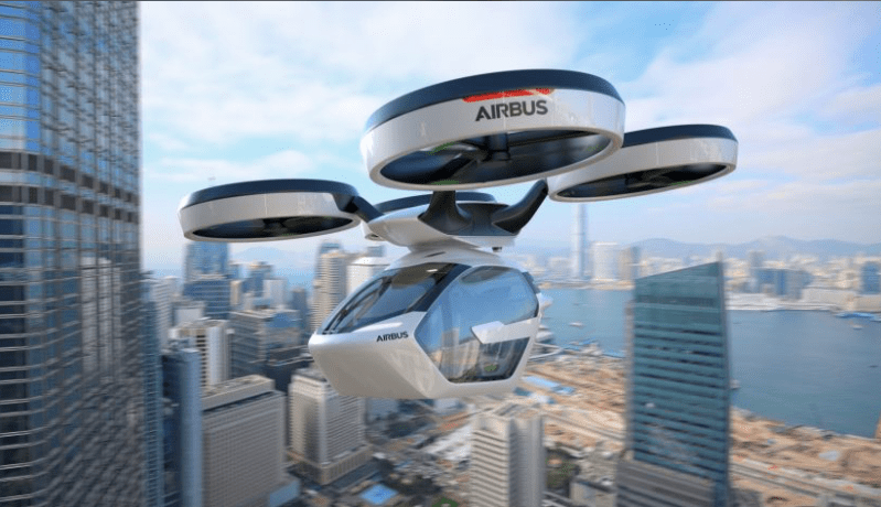 Italdesign and Airbus unveils Autonomous Ground and Air Passenger Concept Vehicle Pop.Up flying mode