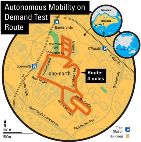 where-is-singapore-autonomous-vehicle-heading-one-north-test-site