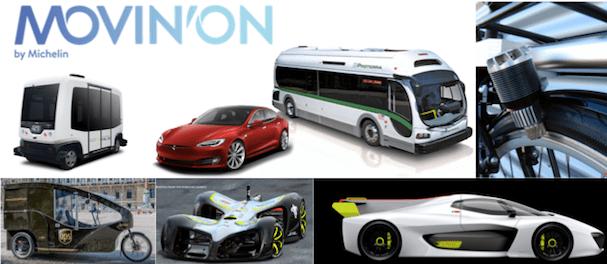 Michelin Lineup Transformative Urban Mobility Technologies for Movin On 2017 Easymile Proterra E-Drive BMW UPS E-Trike