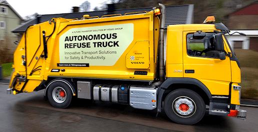 Volvo Trials Autonomous Self driving Garbage refuse Truck