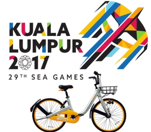 oBike is the Official Sustainable Urban Mobility Partner for KL SEA Games 2017 bike sharing bicycle rental paralympic games