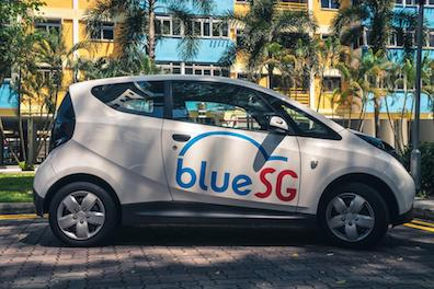 Singapore to See First Large-scale EV Sharing Scheme in December BlueSG Bollore electric car rental ASEAN urban mobility