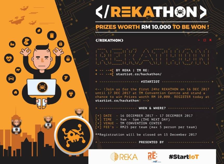 REKA Showcases Malaysia First Self-Driving Car Technology at KLIAS REKAthon hackathon TM RE: