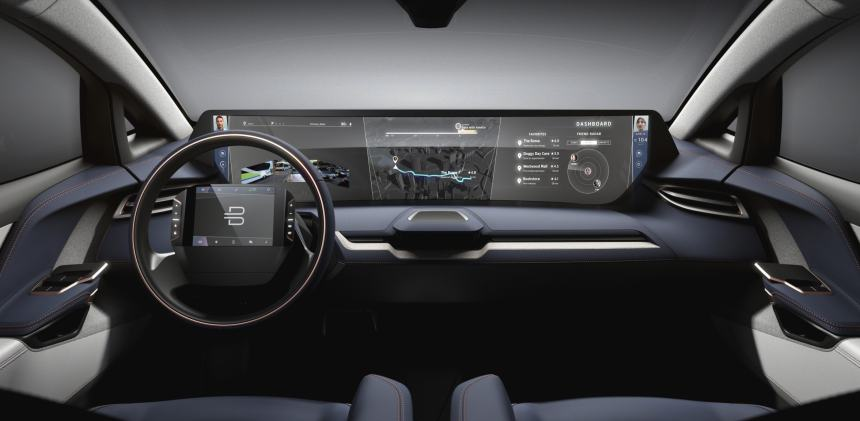 BYTON to launch all-new intelligent electric vehicle at CES interior dashboard vehicle information system car sharing autonomous driving