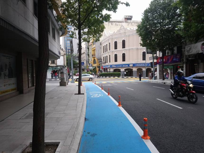 Kuala Lumpur Bike Lanes SDG 11.2 NMT WUF9 Street view of CBD
