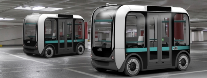 Autonomous Shuttle Startup Local Motors announces partnership with Robotic Research urban mobility Olli autonomous self driving shuttle
