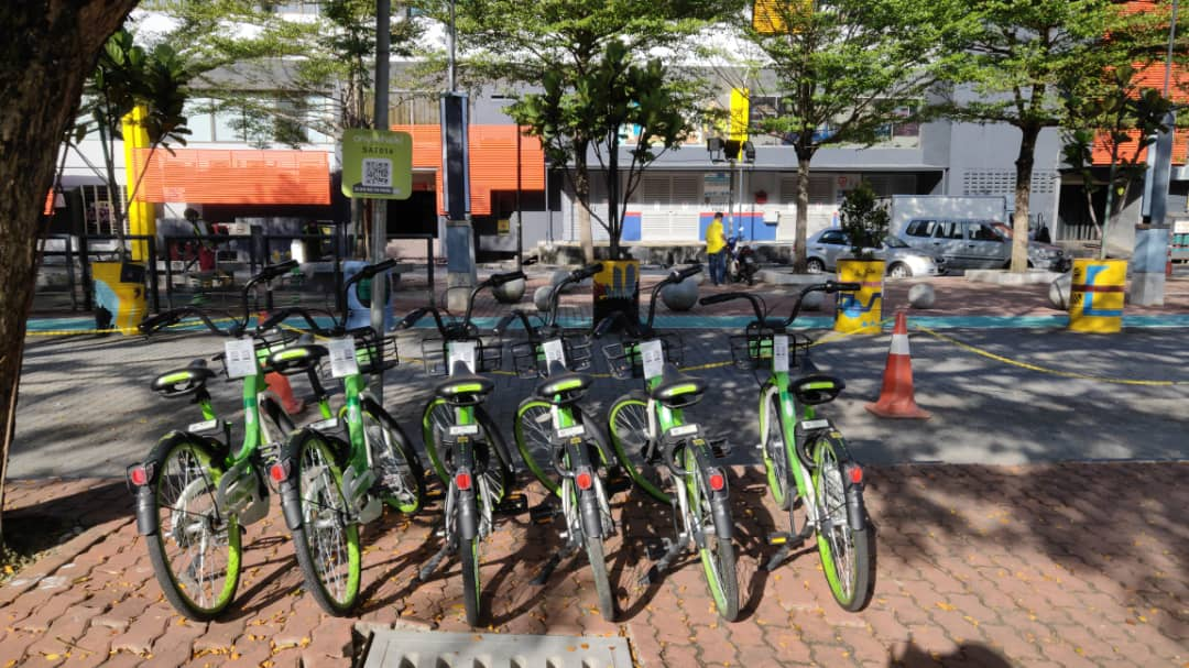 Anywheel bicycles sharing in SACC Mall Shah Alam