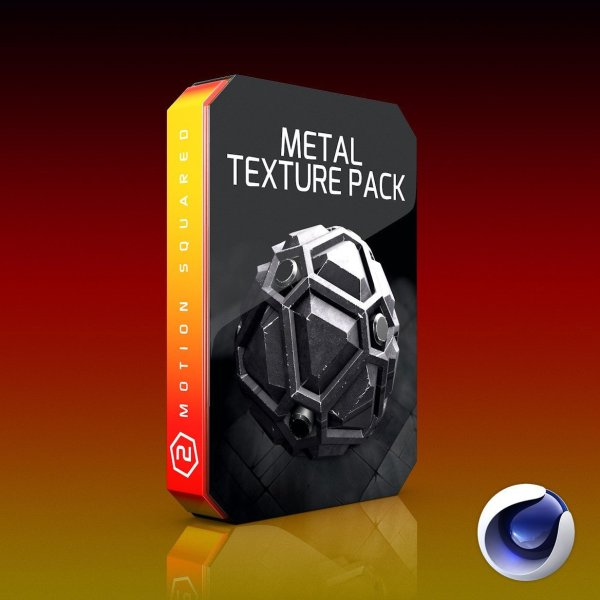 Cinema 4D Metal Texture Pack.