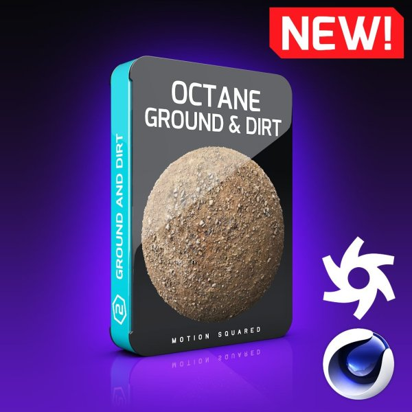 Octane Ground and Dirt Texture Pack for Cinema 4D