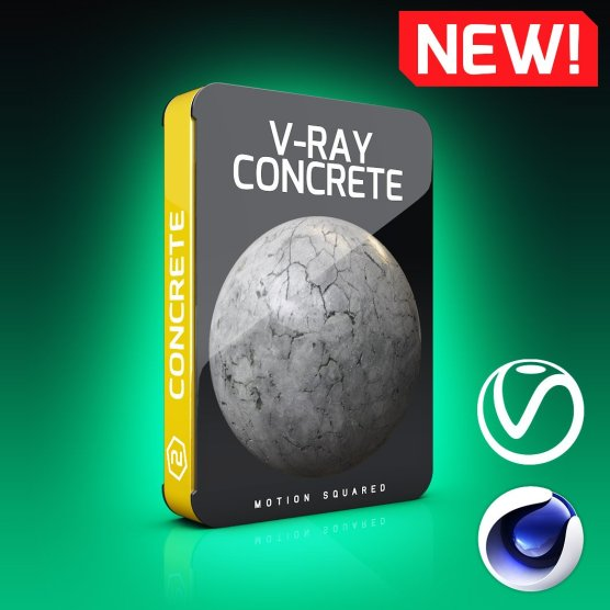V-Ray Concrete Texture Pack for Cinema 4D