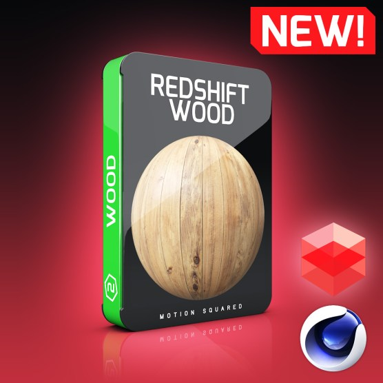 Redshift Wood Materials Pack for Cinema 4D