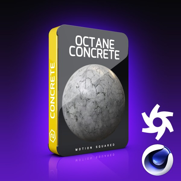 Octane Concrete Materials Pack for Cinema 4D - MOTION SQUARED