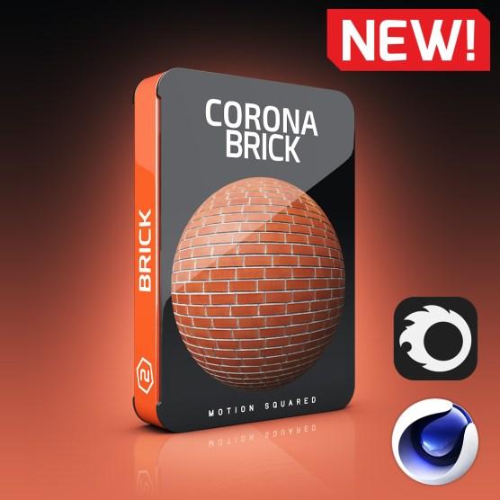 Corona Brick Materials Pack for Cinema 4D