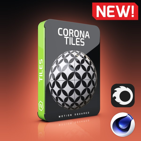 Corona Tile Materials Pack for Cinema 4D