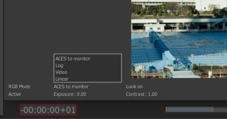 ビューポートの左側のポップアップから、ディスプレイの表示状態を切り替え