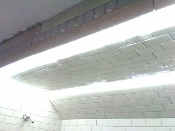 Subway Lights Design Integrates LED lights into the tile - LED Shower Light