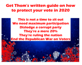 Why you need to share Thom Hartmann voter book