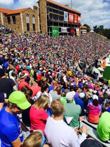2015 Bolder Boulder 10K Finish...the stadium was packed!