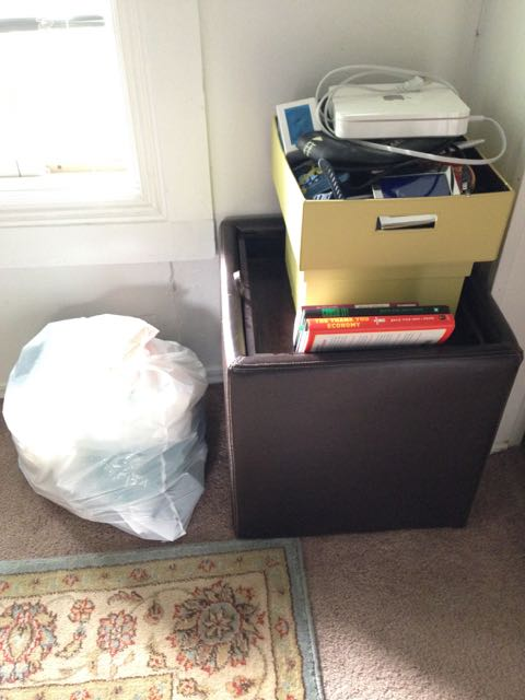 Pile of stuff in my office to be discarded.