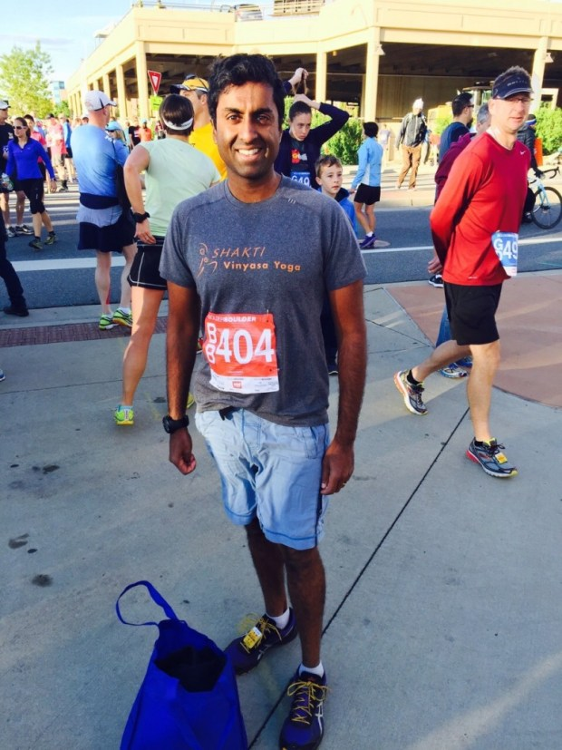 This is me a month ago, after finishing the Bolder Boulder 10K. I lost almost all the weight I had previously gained, and feel great!