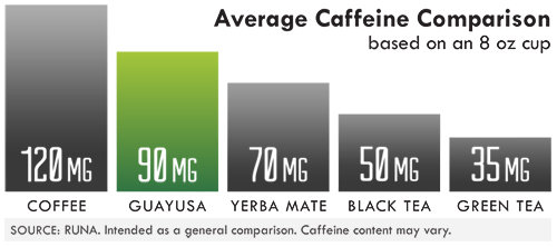 Yerba Mate caffeine comparison