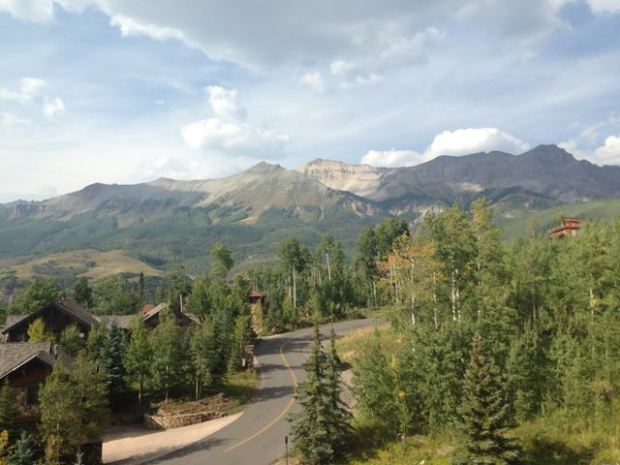 Photo I took after one of my daily runs around Telluride Mountain Village.