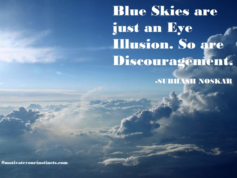 Blue Skies are just an Eye Illusion