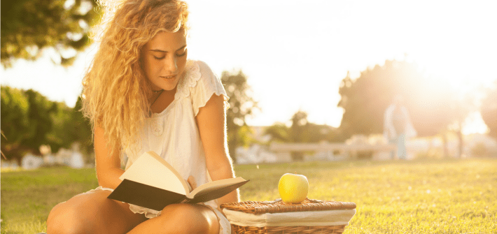 Feature Girl Reading Motivational Book