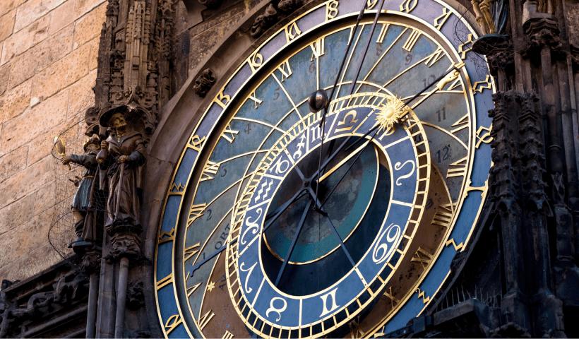 Zodiac Sign clock