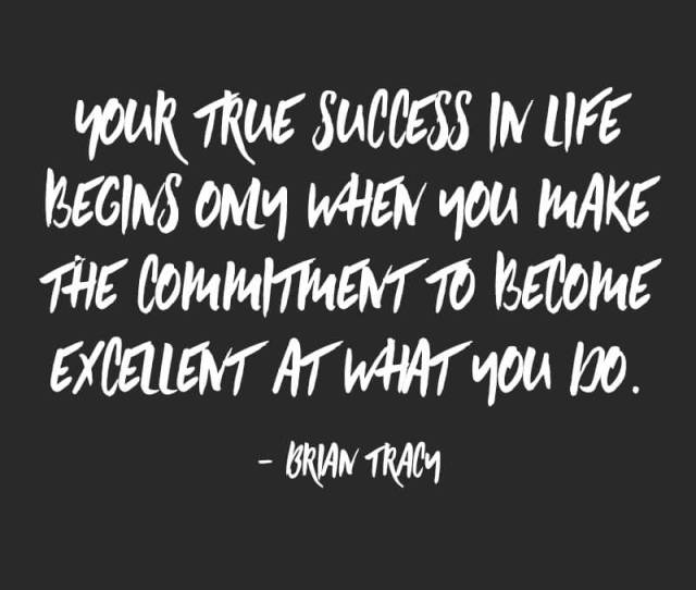 Your True Success In Life Begins Only When You Make The Commitment To Become Excellent At What You Do