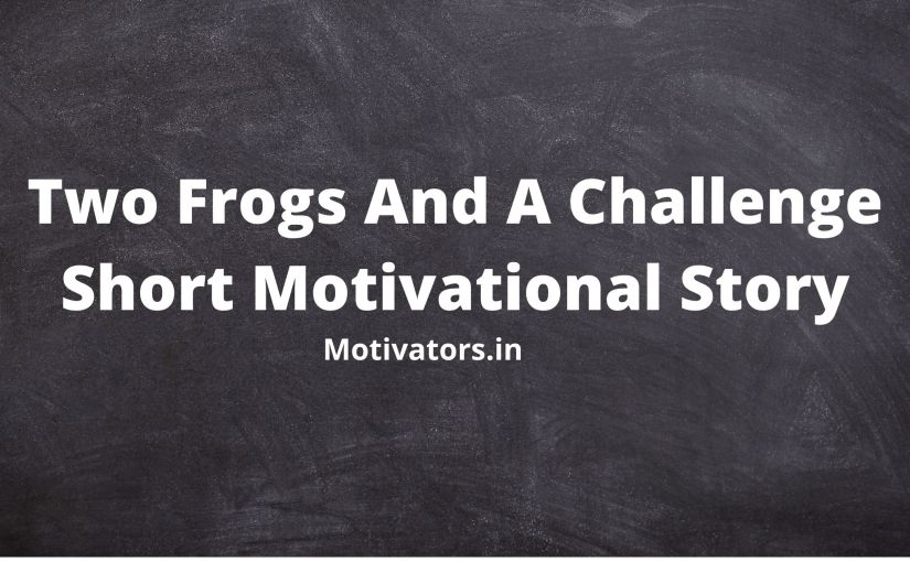 Two Frogs And A Challenge Short Motivational Story