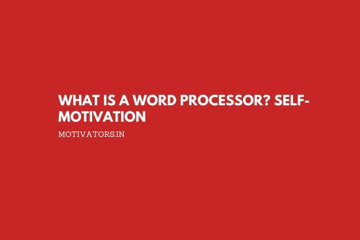 What is a Word Processor
