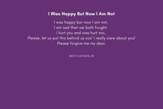 I Was Happy But Now I Am Not