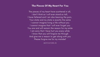 The Pieces Of My Heart For You