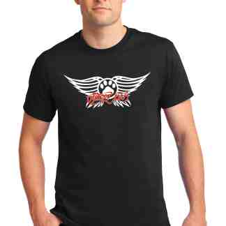 Aerosmith men tee front model