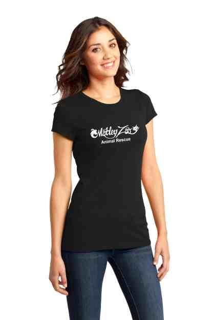 Classic women tee front MOTLEY ZOO ANIMAL RESCUE