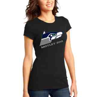 Hawkdog women tee front model motley zoo animal rescue bydfault