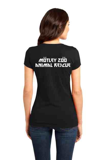 Pits Rock wpmen tee back motley zoo animal rescue