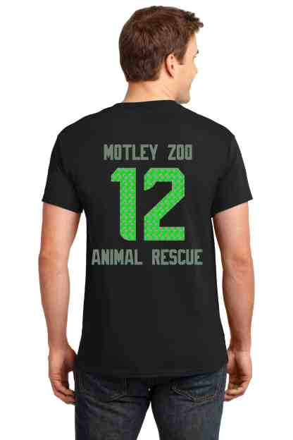 hawkdog men tee back motley zoo animal rescue bydfault