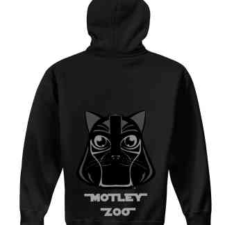 hoodie back CAT MOTLEY ZOO ANIMAL RESCUE BYDFAULT